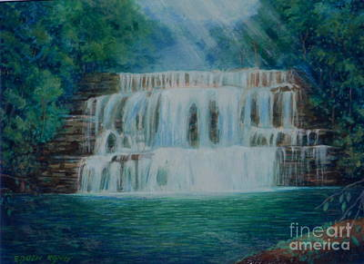 Painting - Maliau Basin Waterfall Sabah Borneo by Edoen Kang