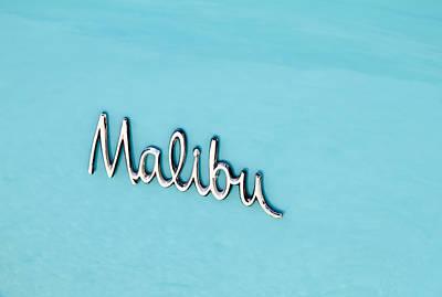 Car Insignia Photograph - Malibu Insignia by Tony Grider