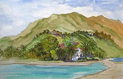 Malibu Lagoon Painting - Malibu Lagoon And Adamson House by Bonnie Sue Schwartz