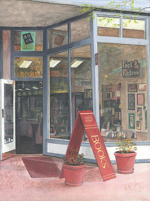Painting - Mall Book Store by Stuart B Yaeger
