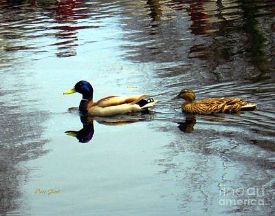 Digital Art - Mallards by Dale   Ford