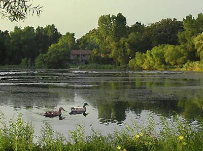 Digital Art - Mallards Lake Iv by Doug Kreuger