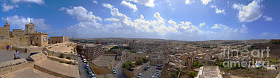 Malta Panoramic View Of Valletta  Print by Guy Viner