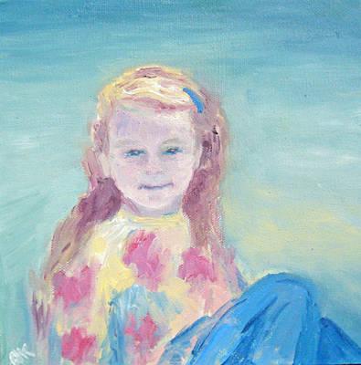 Malve Portrait Art Print by Barbara Anna Knauf