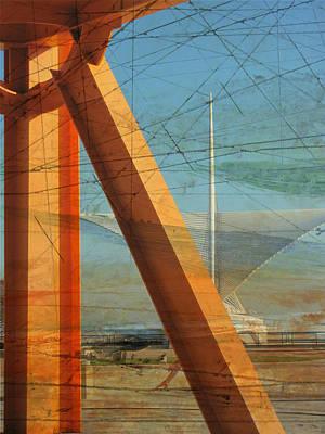 Digital Art - Mam And Orange Sunburst by Anita Burgermeister