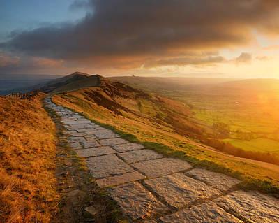 Mam Tor Sunrise, Peak District Art Print by Chris Hepburn