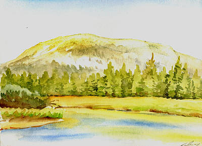 Watercolor Drawing - Mammoth Peak by Logan Parsons