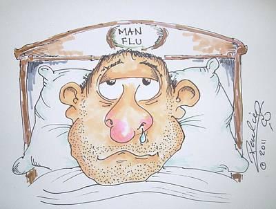 Drip Drawing - Man Flu by Paul Chestnutt