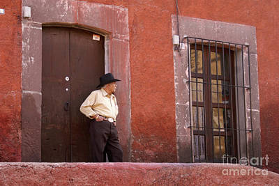 Photograph - Man In Doorway San Miguel De Allende Mexico by John  Mitchell