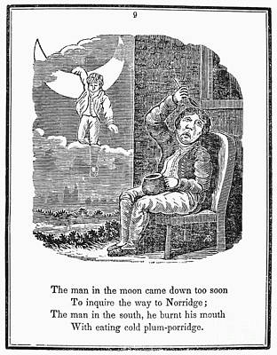 Man In The Moon, 1833 Art Print