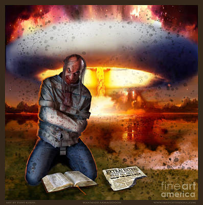 Mixed Media - Man Made Armageddon by Tony Koehl