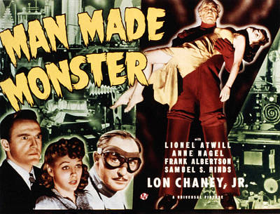 Posth Photograph - Man Made Monster, Frank Albertson, Anne by Everett