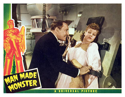 Man Made Monster, Lionel Atwill, Anne Print by Everett