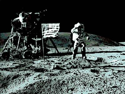Photograph - Man On The Moon by George Pedro