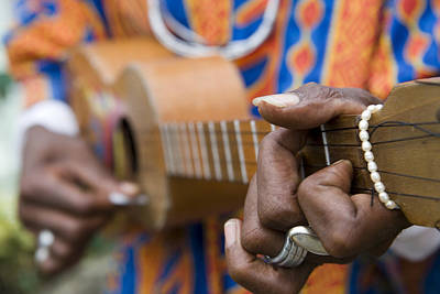 Man Playing Caribbean Mandolin, Grand Etang Forest Reserve Visitor Centre,  Grand Etang National Park, St George, Grenada, Central America & The Caribbean Art Print by Holger Leue