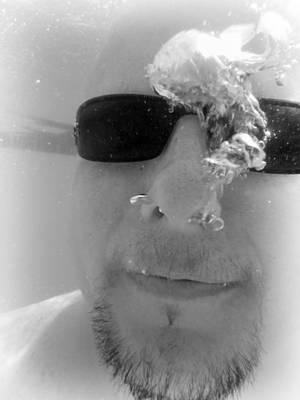 Photograph - Man Underwater by Kelly Hazel