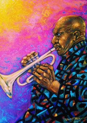 Pastel - Man With A Horn by Terry Jackson