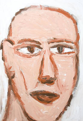 Man With A Scar On His Face Print by Kazuya Akimoto