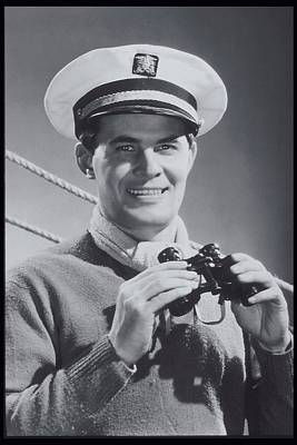 Man With Binoculars, Sailing Costume, 1940 Print by Archive Holdings Inc.