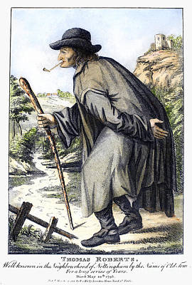 Man With Cane, C1795 Art Print by Granger