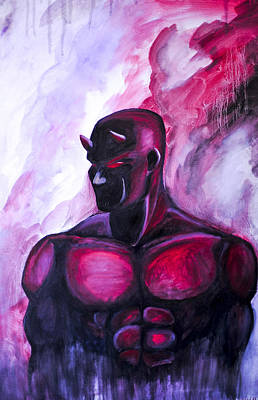 Painting - Man Without Fear  by Chris  Leon