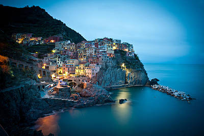 Photograph - Manarola Iridescence by Mike Reid