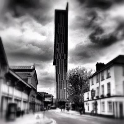 Skyscrapers Wall Art - Photograph - #manchester by Ritchie Garrod