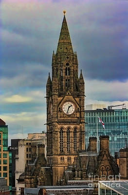 Manchester Town Hall Art Print by Heather Applegate