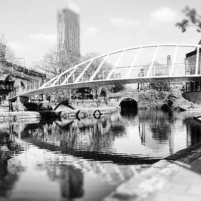 River Wall Art - Photograph - #manchestercanal #manchester #city by Abdelrahman Alawwad