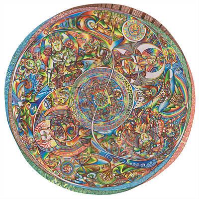 Sand Mandala Drawing - Mandala Buddha by Jonathan DiNo DiNapoli