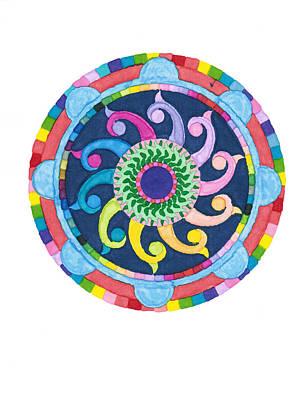 Digital Art - Mandala Meditation I by Margaret Denny