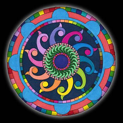 Digital Art - Mandala Meditation I V1 by Margaret Denny