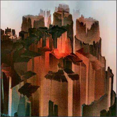 Painting - Mandalascape 1975 by Glenn Bautista