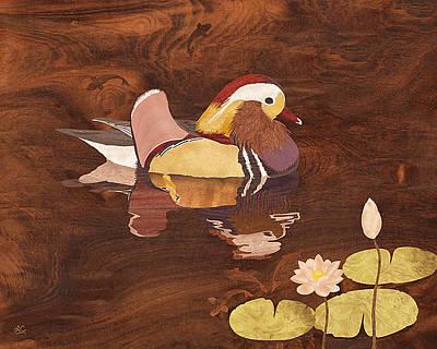 Wood Duck Mixed Media - Mandarin Duck by Vincent Doan