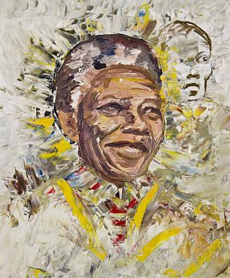 Mandela Art Print by Bob Usoroh
