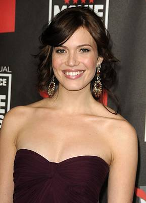 Chandelier Earrings Photograph - Mandy Moore At Arrivals For 16th Annual by Everett