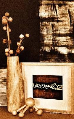 Mangowood Vase In Decor Art Print by Marsha Heiken
