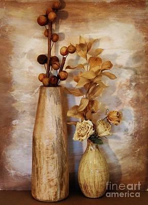 Mangowood Vase Art Print by Marsha Heiken