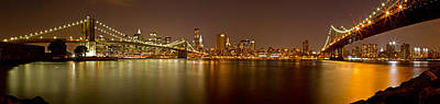 Photograph - Manhattan At Night Panorama 5 by Val Black Russian Tourchin