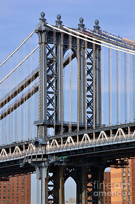 Manhattan Bridge3 Art Print by Zawhaus Photography