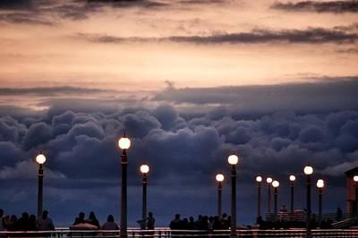 Manhattan Clouds Original by Laura Scott