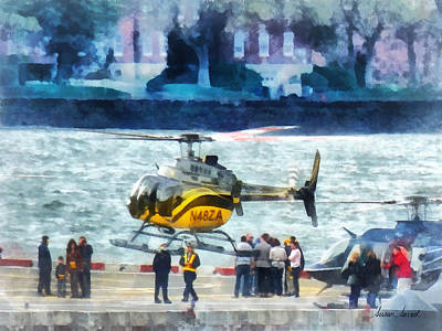 Crowds Photograph - Manhattan Heliport by Susan Savad