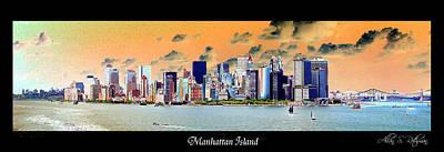 Photograph - Manhattan Island by Allan Rothman