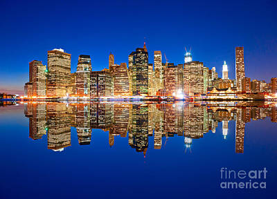 Art Print featuring the photograph Manhattan by Luciano Mortula