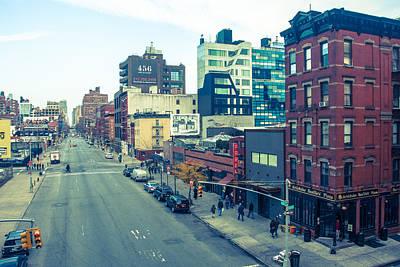 Manhattan Street Scene Art Print by Nancy Kennedy