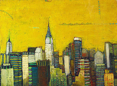 Manhattan With Chrysler And Empie Art Print by Habib Ayat