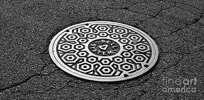 Photograph - Manhole Cover by Luke Moore