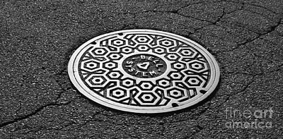 Manhole Photograph - Manhole Cover by Luke Moore