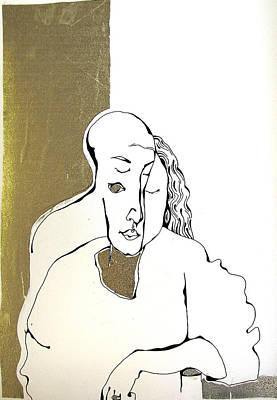 Nina Mirhabibi Drawing - Mani by Nina Mirhabibi