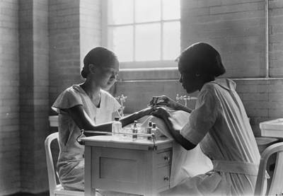 Nail Salon Photograph - Manicure Class by Lewis W Hine